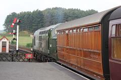 D6732 25th Aug 2013 NNR (Ian Sharman 1963) Tags: station yard train diesel north norfolk engine railway loco class passenger holt 25th 37 aug sheringham weybourne nnr 2013 37032 d6732