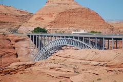 Glen Canyon Bridge (visual_infrastructure) Tags: bridge arizona geotagged nikon steel page redrock archbridge glencanyonbridge structurae