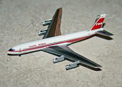 Inflight 500 TWA 707-331B (dlberek) Tags: twa boeing707 modelairplane airplanemodel transworldairlines diecastmodel aircraftmodel boeing707320b boeing707320 diecastairplane inflight500 boeing707331b