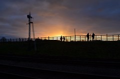 Sunset at Quorn (J @BRX) Tags: sunset england sky silhouette train leicestershire railway steam greatcentralrailway gcr semaphoresignal latedeparture wintersteamgala january2015