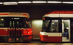 Old meets New (JoshuaKG) Tags: new old toronto station trolley ttc transit spadina streetcar 510 commission meets lrv clrv