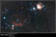 20150218_M42 & IC434 (Clapiotte_Astro) Tags: nebula orion m42 astronomy ic434 ef70200mm canon70200mm eq6 headhorse astrometrydotnet:status=solved clsfilter canon1100d astrometrydotnet:id=nova1021922