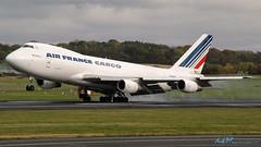 F-GCBK B747-228F/SCD Air France Cargo (kw2p) Tags: scotland unitedkingdom aircraft boeing prestwick prestwickairport egpk airfrancecargo fgcbk b747228fscd egpkpik cn24158714