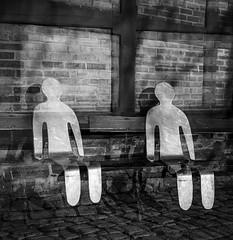 Twins (Julia Marie Rnneberg) Tags: blackandwhite bw sculpture building 120 6x6 film monochrome norway architecture analog rolleiflex mediumformat square twins kodak vintagecamera multiexposure sorthvitt mittelformat tmy2 multieksponering juliarnneberg