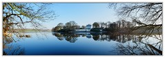 Frosty Morning Loch Panorama (3,6,9 Seconds of light) Tags: blue trees winter panorama cold reflection castle water reflections landscape cool stitch branches peaceful frosty panoramic calm loch stitched kennedy tranquil stranraer dumfriesandgalloway stitcher wigtownshire