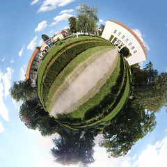 Redemption Planet (Viktor_Bublic) Tags: panorama spring day small croatia planet polar stitched hrvatska sisak 2015