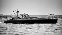 Classic Cruiser (joegeraci364) Tags: ocean wood sea white seascape black art classic water beauty vintage landscape boat marine ship yacht antique horizon profile vessel rhodeisland maritime nautical aphrodite luxury cruiser watchhill
