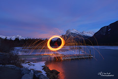DSC_8240small (Lijuan Guo Photography ( Hollow Bamboo)) Tags: winter mountain lake banff rundle vermilionlake