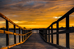 Jetty (Aestheticshots) Tags: sunset sky orange art nature water beautiful clouds 35mm river landscape amazing cool warm jetty australia swanriver perh d7000 aestheticshots