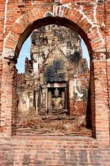 The image of Buddha in the frame (suwapitch13) Tags: brick history archaeology thailand religious ancient khmer buddha buddhism frame antiques bodhisattva touristattraction lopburi laterite ancientremains ancienttimes theimageofbuddha holything buddhistplace sacreditem