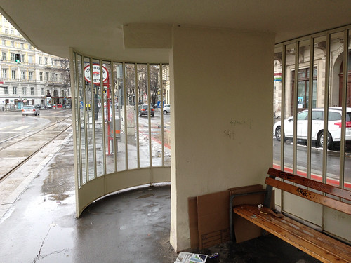 Tram Shelter - Ringstrasse at Schwarzenbergplatz - Jan 2015 - 3