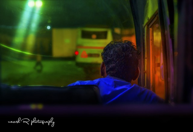 Colourful dream of a bus driver