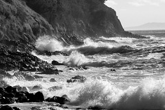 Storm Swell (MN_2) Tags: sea beach monochrome waves gordonsbay bikinibeach