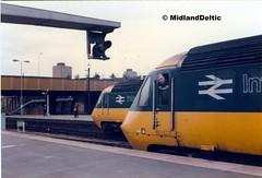 43xxx, 43xxx, Leicester, 11-07-1984 (MidlandDeltic) Tags: leicester trains britishrail locomotives hst class43