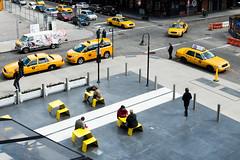 Yellow (Jonathan Lurie) Tags: new york city urban newyork yellow corner high unitedstates taxi line metropolis gotham highline gothamcity nycnew