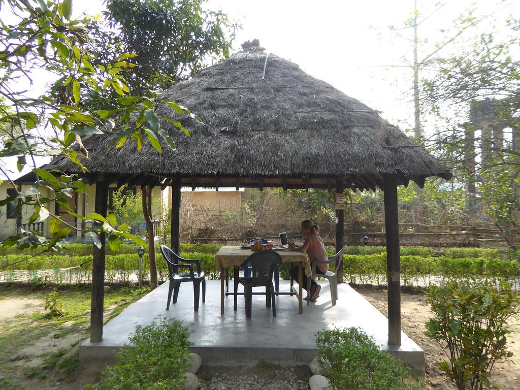 Relaxing in the Breakfast Hut