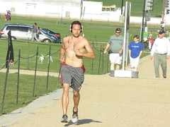 IMG_0726 (FOTOSinDC) Tags: shirtless hairy man muscles back arms arm legs candid chest leg handsome running sweaty sweat guns jogging runner jogger