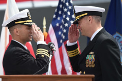 USS McCampbell conducts a change of command ceremony. (Official U.S. Navy Imagery) Tags: japan yokosuka changeofcommand ussmccampbellddg85