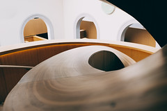 Gehry staircase 2 (kzhw) Tags: toronto gehry fujifilm rom x100t
