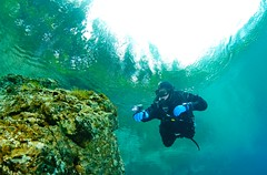 Diving in Upper Austria (Ars Electronica) Tags: lake river austria lakes diving rivers obersterreich traun attersee tauchen upperaustria traunsee pichlingersee traunfall walterbrunbauer