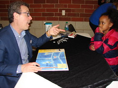 Mr. Eric with a young fan (Westerville Library) Tags: eric event westerville authors meettheauthors westervillelibrary litwin authorvisit petethecat westervillepubliclibrary westervillepubliclibraryevents authorvisits meettheauthorseries westervillecentralhighschool meettheauthorsseries
