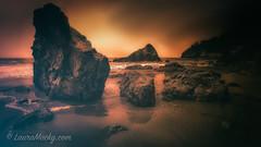 http://www.lauramacky.com (Laura Macky) Tags: ocean sunset beach landscape rocks marincounty muirbeach