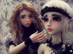Best friends, even when being Lady and servant  (silverAlly) Tags: christina hybrid baining angellstudio dollchateau