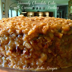 "Sandra's Alaska Recipes: ""SANDRA'S HEAVENLY CHOCOLATE CAKE with COCONUT PECAN FROSTING"" recipe... (sandrasalaskarecipesphotographyretail) Tags: cake alaska dessert photo image coconut chocolate pic homemade german recipes pecan heavenly frosting devilsfood sandras"