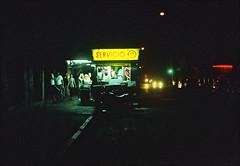 Pentax k1000 (fiumartinelli) Tags: food film night analog 35mm dead uruguay photography is neon fuji pentax k1000 superia fujifilm mm montevideo cart fotografia 35 800 analogica carrito xtra fujicolor