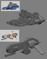 Ship Progress Report 001 (OrangeKNight) Tags: fiction 3d ship jackal lego modeling space science printing spaceship fi sci firebrand