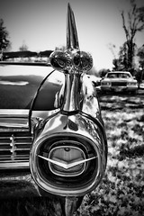 IMG_0140 (Silverio Photography) Tags: blackandwhite classic monochrome car boston photoshop canon vintage sigma cadillac anderson elements suburb 1770 vignetting brookline hdr topaz adjust larz 60d