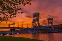 Springtime Sunset (eahackne) Tags: sunset houghton upperpeninsula keweenawpeninsula portagelakeliftbridge keweenawwaterway