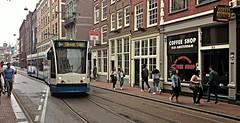 NIET op de koffie komen (Peter ( phonepics only) Eijkman) Tags: city holland netherlands amsterdam transport nederland tram rail rails trams strassenbahn noordholland gvb tramtracks streetcars combino nederlandse