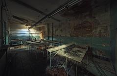 Back at School (Nils Grudzielski) Tags: school urban abandoned canon chair classroom decay teacher forgotten rotten urbex klassenzimmer abandonedplaces marode lostplaces klassenraum