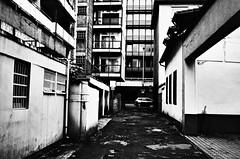 The End Is Near (formwandlah) Tags: life street city urban bw white abstract black art strange contrast dark lost death graffiti blackwhite high poetry noir gloomy place pentax dream imagination sw gr monochrom sureal ricoh kaiserslautern abstrakt thorsten prinz melancholic bizarr skurril einfarbig melancholisch formwandlah