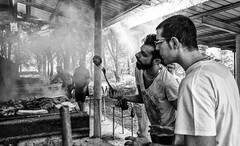 Grigliata (auredeso) Tags: grigliata carne fumo griglia compleanno bn bianco nero