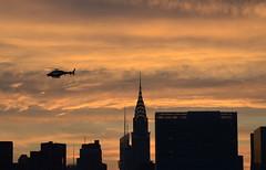 Solstice Chopper 2259 (Rob Bellinger) Tags: new york city sunset summer skyline clouds manhattan aviation nypd helicopter un solstice koala empirestatebuilding agusta 2016 agustawestland aw119