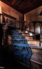 Blue carpet (Perurena) Tags: house alfombra stairs carpet casa decay escaleras azulejos escadas abandono urbex barandilla pasamanos urbanexplore