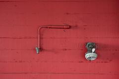 Tap on a red wall (Jan van der Wolf) Tags: map156256v tap kraan wall muur red rood minimalism monochrome