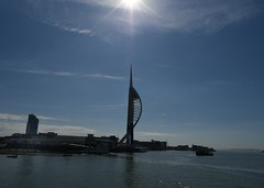 Spinnaker silhouette (gillybooze) Tags: sea sky sun seascape water weather silhouette clouds boats outside portsmouth vista spinnaker sunstar allrightsreserved