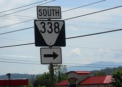 South TN 338 (peachy92) Tags: usa us unitedstates tn tennessee unitedstatesofamerica roadsign roadsigns sevierville seviercounty sevier 2016 roadgeek seviervilletennessee seviervilletn seviercountytennessee nikoncoolpixl22 seviercountytn tn338