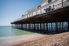 Bognor Regis Pier (Jemma Graham) Tags: uk longexposure blue sea england sky colour beach pier seaside sand waves quiet britain south peaceful lee serene bognorregis ndfilter 10stop leebigstopper may2016