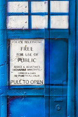 The Tardis, Canberra (russellstreet) Tags: blue colour australia canberra tardis redhilllookout australiancapitalterritory