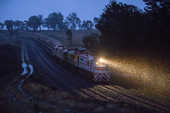 "2016-06-24 John Holland 48s34-48s35-48s36 Wambool 8M46 (Dean ""O305"" Jones) Tags: winter snow west holland train john au main rail australia line alpine maintenance nsw works newsouthwales locomotive snowfall ballast alco dl351 48s34 48s35 48s36 wambool 8m46"