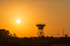 Fort Pickens Battery Observation Tower Sunset (Tony Webster) Tags: tower us unitedstates florida pensacola pensacolabeach observationtower gulfislandsnationalseashore fortpickens escambia santarosaisland gulfislandnationalseashore batterytower