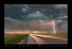 Fast Lights (Matt Grans Photography) Tags: storm weather clouds nebraska lighttrails lightning lightening