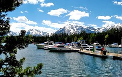 Tetons at Colter Bay (sdowens19631) Tags: mountains west landscape village wyoming tetons colterbay