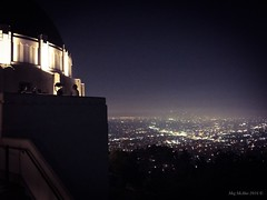 Griffith Observatory - and LA at night  (megmcabee) Tags: california skyline night lights losangeles nightsky griffithobservatory