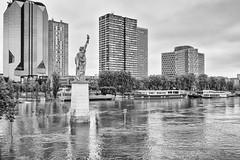 Paris under Water - June 2016 (marianboulogne) Tags: blackandwhite bw paris france water monochrome seine river mono flood noiretblanc pary francja powd