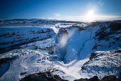 Gullfoss (dawvon) Tags: hvítá gullfoss landscape winter season nature mountain waterfall nordic travel suðurland europe iceland snow goldenwaterfall hvítáriver lýðveldiðísland republicoficeland southernregion ísland south